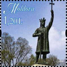 Statue of Stefan cel Mare Mail Art, Monuments, Postage Stamps, Statues, Europe, History, Storage, Collection, World