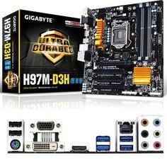 Gigabyte Technology Intel H97 Micro Atx  Motherbrd GA-H97M-D3H https://foxgatemarketing.com/product/gigabyte-technology-intel-h97-micro-atx-motherbrd-ga-h97m-d3h/ Intel H97 Chipset LGA1150 i7/i5/i3 CPU Micro ATX Motherobard. 4*DDR3 6*USB3 8*USB2.0 VGA DVI HDMILPT TPM COM