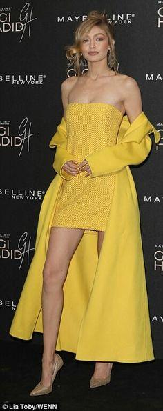 Yellow lace dress lip sync battle