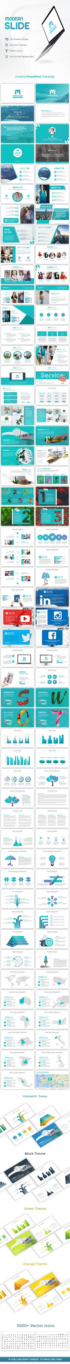 Modern Slide PowerPoint Presentation Template