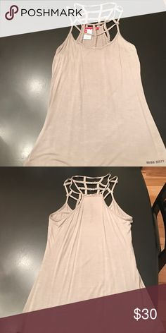 🥅MISS SIXY CAGE TANK🥅 NWOT miss sixty gray cage tank Miss Sixty Tops Tank Tops