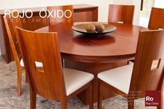 Comedor Contempo Redondo  -muebles de interior /indoor furniture  -Diseño Rojo Óxido  www.rojooxido.mx