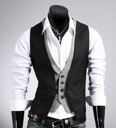 Men's Layered Look Vest (+colors)
