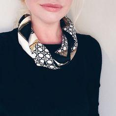 VintageCarré: Hermès Silk Scarf: In good company ♠️