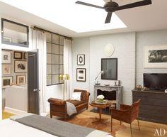 love the interior window to the hallway | Decorator Nate Berkus Reinvents His Manhattan Duplex : Architectural Digest