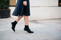Steve Madden Lucite Ankle Booties | bows & sequins