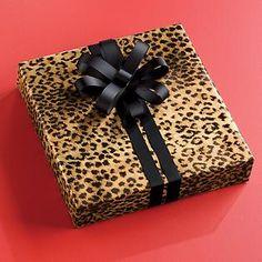 leopard print gift wrap!