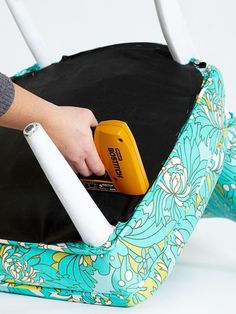 How to Upholster a Chair--This article has links to several tutorials on DIY upholstery for different styles of chairs. There is also a link showing fabric requirements.