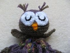 ▶ crochet Owl blanket lovie Part One - YouTube