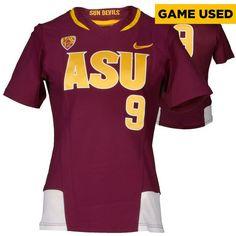 Arizona State Sun Devils Fanatics Authentic Game-Used Maroon ASU V-Neck #9 Softball Jersey used during the 2014-2015 Season - Size Large - $84.99