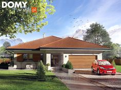 Decyma 6 projekt domu - Jesteśmy AUTOREM - DOMY w Stylu House Front Design, Modern House Design, New House Plans, Home Projects, Planer, Beautiful Homes, Architecture Design, New Homes, Exterior