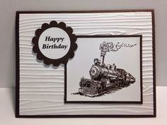 Traveler, Masculine Birthday Card, Stampin' Up!, Rubber Stamping, Handmade Cards