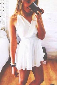 wrap white dress.