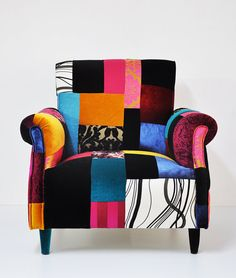 I actually think this one is my favorite colorful armchair by namedesignstudio on Etsy, $1250.00