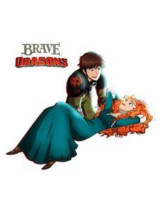 Mericcup Disney Actual, Cute Disney, Jelsa, Jack Frost, Disney And Dreamworks, Disney Pixar, Rapunzel, Merida And Hiccup, Brave Merida
