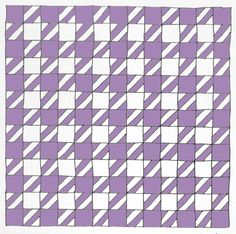 Houndstooth Quilt Tutorial - love the colors of the one she did.....