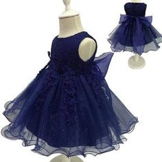 Princess Dress Sleeveless Appliques Floral Design for Girls Clothes Party Dress Clothes Size(US Baby In Wedding Dress, Baby Girl Party Dresses, Girls Formal Dresses, Lace Party Dresses, Wedding Dresses For Girls, Formal Dresses For Weddings, Dresses Kids Girl, Flower Dresses, Baby Dress