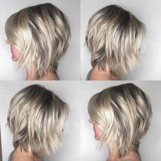 Different Types of Bobs Bob haircuts are ultra-trendy and flatter almost anyone. but did you ever wonder what the difference between an inverted bob, graduated bob, a-line haircut, and other types of bobs were? Asymmetrical Bob Haircuts, Inverted Bob Hairstyles, Medium Bob Hairstyles, Hairstyles Haircuts, School Hairstyles, Graduated Bob Haircuts, Graduated Bob Medium, Medium Inverted Bob, Wedding Hairstyles