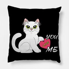 You Love Me - You Love Me - Pillow | TeePublic Pillow Cover Design, Pillow Covers, Throw Pillows, My Love, Cats, Pillow Case Dresses, Cushions, Gatos, Pillow Protectors