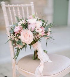 Hottest 7 Spring Wedding Flowers to Rock Your Big Day---peonies and garden roses wedding bouquet with blush ribbon and greenery, spring wedding ideas, diy wedding flowers wedding flowers Hottest 7 Spring Wedding Flowers to Rock Your Big Day Cheap Wedding Flowers, Spring Wedding Flowers, Bridal Flowers, Rose Wedding, Floral Wedding, Wedding Colors, Dream Wedding, Ribbon Wedding, Boquette Flowers