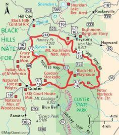 map of needles highway south dakota | Hot Springs Super 8 Motel | Black Hills | South Dakota | Needles Hwy ...