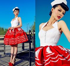 Pin up style (Pictures like this are my favorite pinup pictures. She isn't naked, she isn't too exposed, she isn't popping out of her clothes; She's covered, classy, and adorable!)