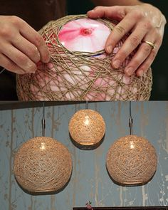 Modern Lighting On A DIY Budget  Make these easy, DIY Hemp Pendants to light up your scene