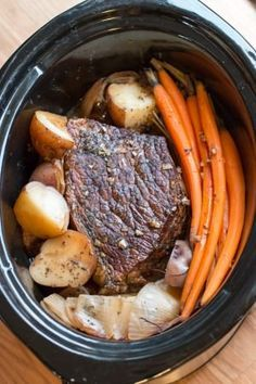 Slow Cooker Balsamic Beef Roast and Veggies