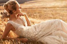 Melissa Sweet Wedding Dress with Plunging Neckline at David's Bridal