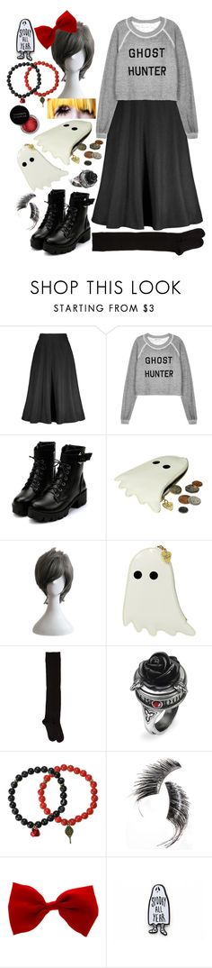 """""""Untitled #742"""" by thelilacpotato ❤ liked on Polyvore featuring Wildfox, Berylune, Tatty Devine, A Détacher, Concrete Minerals, Medusa's Makeup, Beauty Is Life, maxiskirt, harajuku and ghost"""