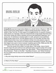 Got a young music buff at home? Have him put the instrument down and take the ear buds out for a beat or two. He can learn all about some of the most famous, most influential musicians and movements of all time with this set of fantastic 4th grade reading comprehension worksheets.