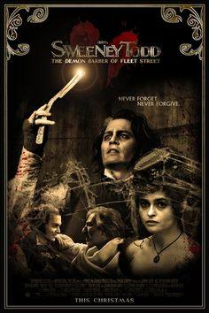 Photo of Johnny Depp movie posters for fans of Movie Posters! Sweeney Todd, Film Tim Burton, Marla Singer, Johnny Depp Movies, Johny Depp, Movie Poster Art, Cool Movie Posters, Horror Movie Posters, Cinema Posters