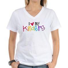 I {Heart} My Kinders T-Shirt on CafePress.com