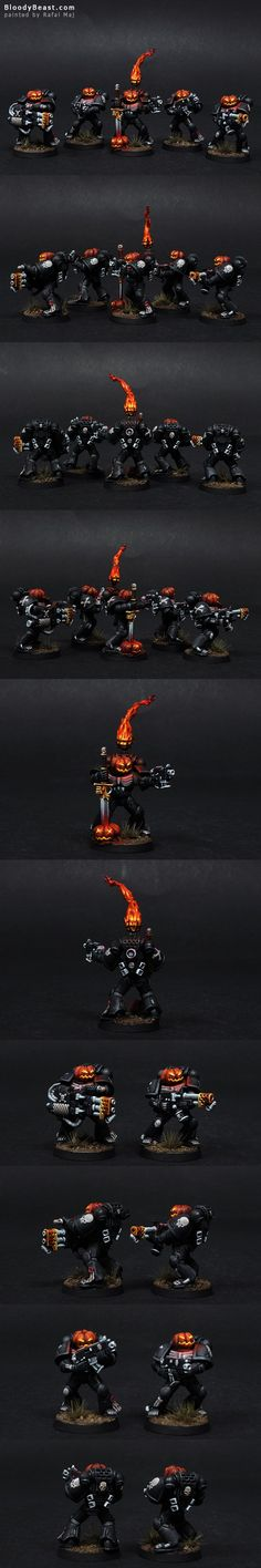 Halloween Legion of the Damned Space Marines- oh this is amazing! I have my own ideas for this legion though...