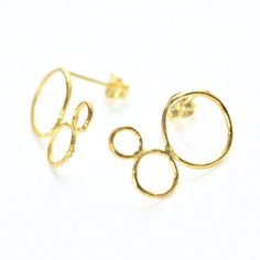 Bubble Studs Gold-Plated now featured on Fab.