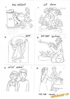 Ukážeme dítěti obrázek a k tomu řekneme zvuk, nebo předvedeme, co je na obrázku.obrázky vybarvíme... Logos, Poem, Logo