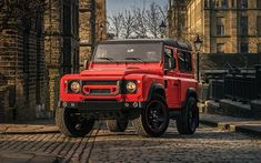 Download wallpapers Project Kahn, tuning, Land Rover Defender 90, street, 2018 cars, SUVs, new Defender, Land Rover