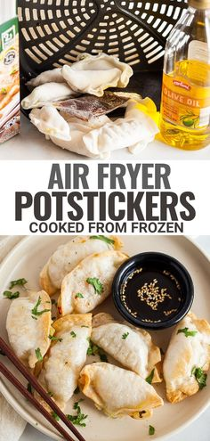 This easy method for Air Fryer Frozen Potstickers turns a frozen dumpling or gyoza into a crispy appetizer or snack in just 10 minutes or less. Great for any air fryer or Ninja Foodi!