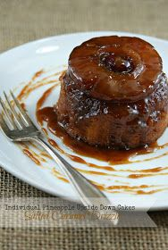 Authentic Suburban Gourmet: Individual Pineapple Upside-Down Cakes with Salted Caramel Drizzle + Weekly Inspirations