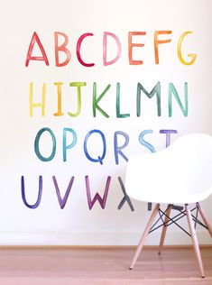 See how these wall decals can transfer your kids room! Playroom Wall Decor, Kids Room Paint, Wall Decals For Bedroom, Kids Wall Decals, Playroom Ideas, Boy Wall Decor, Decals For Walls, Alphabet Wall Decals, Playroom Table