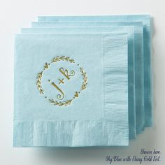 Heart Wreath Wedding Napkins Set of 50  by PicturePerfectPapier