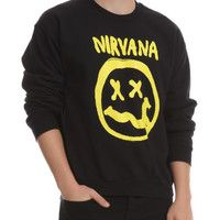 Nirvana Smiley Crewneck Sweatshirt | Hot Topic