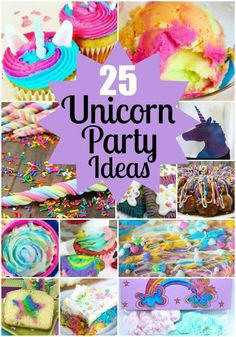 25 Whimsical Fun Unicorn Party Ideas for any occasion from bake sale to birthday party.