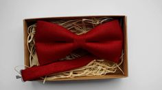 Deep dark red bow tie/ Pre Tied Bow Tie /Wedding Bow Tie /Best man Bow Tie /Wedding Groom Bow Tie /Men's bow tie by ArtOfLithuania on Etsy