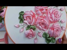 If you have always wondered how silk ribbon embroidery roses are created, check this step by step tutorial out. Embroidery Designs, Ribbon Embroidery Tutorial, Ribbon Flower Tutorial, Rose Embroidery, Silk Ribbon Embroidery, Embroidery Thread, Ribbon Art, Diy Ribbon, Ribbon Crafts