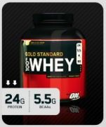 100% Whey Protein Gold Standard 5lbs Size + 5 Free Platinum PRE Samples
