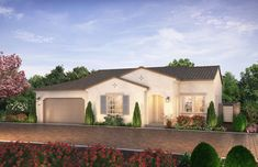Citron at The Grove in Camarillo, CA by Shea Homes | Residence 1B Exterior Rendering   #sheahomes #sheahomessocal #livethedifference #liveethesheadifference #CitronAtTheGrove #Camarillo #newhomes #venturanewhomes #venturacounty #realestate Sales: Shea Homes Marketing Company (CalDRE #01378646), Construction: SHSC GC, Inc. (CSLB #1012096). Equal Housing Opportunity.