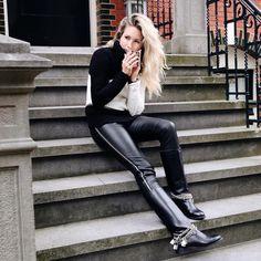 Stories slut wife leather pants 15