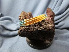 4 Strand 2mm Round Leather Cord Bracelet with Gold Textured Tubes