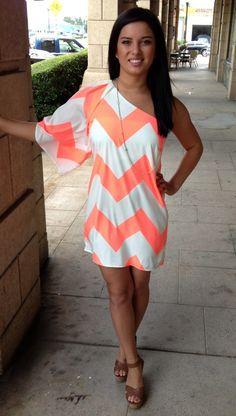 ella   scott - Coral One Sleeve Dress, $48.00 (http://www.shopellascott.com/coral-one-sleeve-dress/)